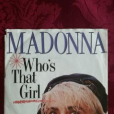 Discos de vinilo: SINGLE MADONNA VINILO WHO,S THAT GIRL. Lote 98047035