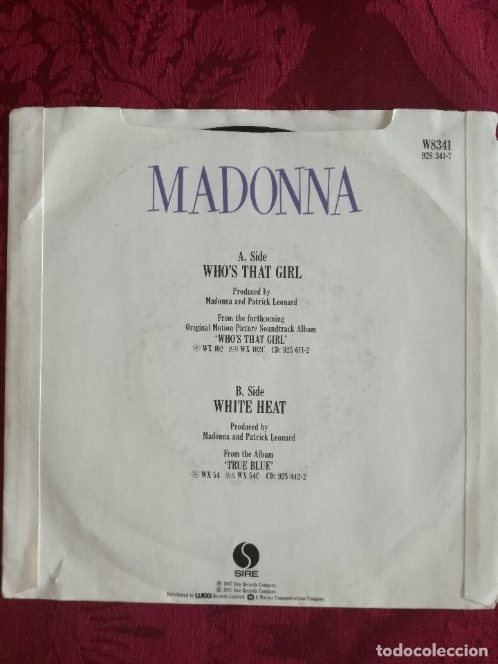 Discos de vinilo: SINGLE MADONNA VINILO WHO,S THAT GIRL - Foto 2 - 98047035