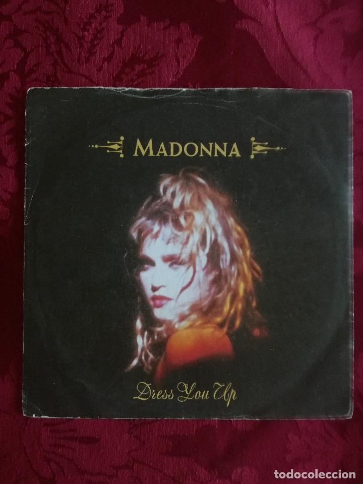 SINGLE MADONNA VINILO DRESS YOU UP (Música - Discos de Vinilo - Maxi Singles - Pop - Rock Extranjero de los 90 a la actualidad)