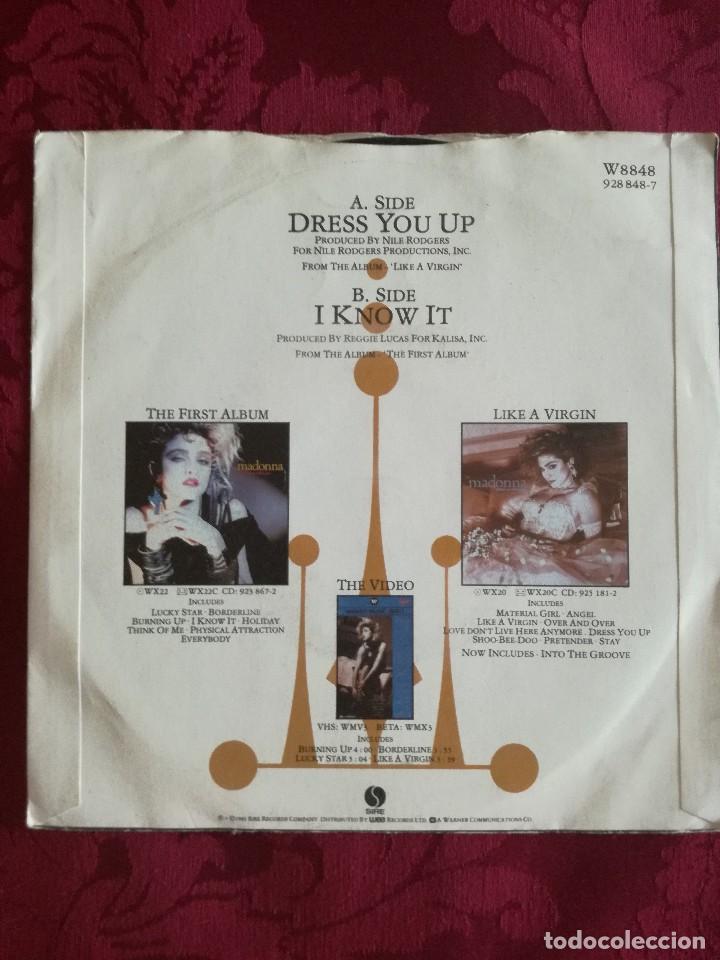 Discos de vinilo: SINGLE MADONNA VINILO DRESS YOU UP - Foto 2 - 98047119