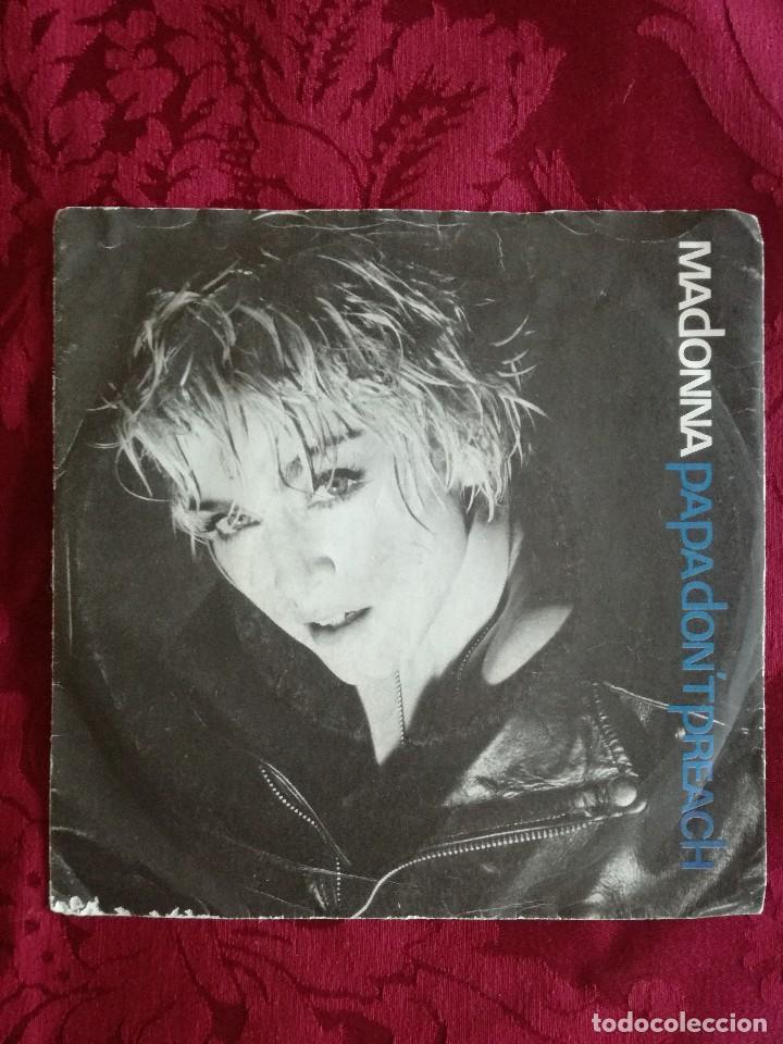 Discos de vinilo: SINGLE MADONNA VINILO PAPA DONT PREACH - Foto 1 - 98047175