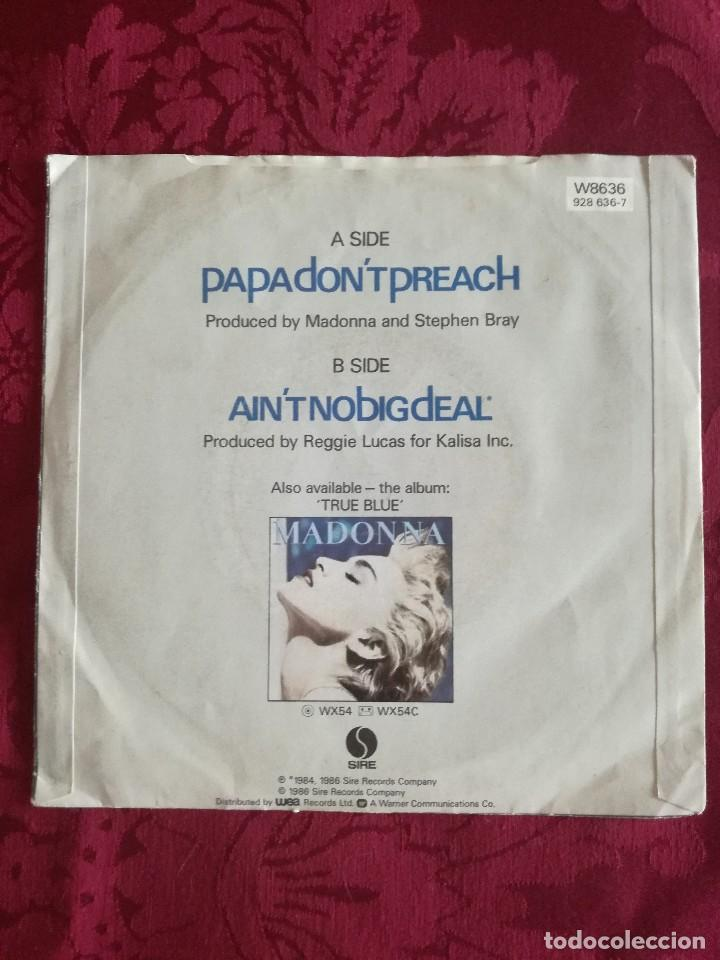 Discos de vinilo: SINGLE MADONNA VINILO PAPA DONT PREACH - Foto 2 - 98047175