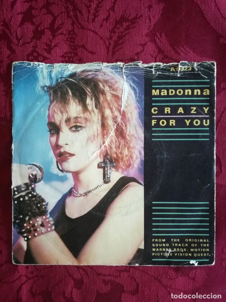 SINGLE MADONNA VINILO CRAZY FOR YOU (Música - Discos de Vinilo - Maxi Singles - Pop - Rock Extranjero de los 90 a la actualidad)