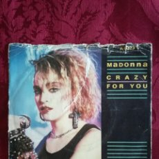 Discos de vinilo: SINGLE MADONNA VINILO CRAZY FOR YOU. Lote 98047343