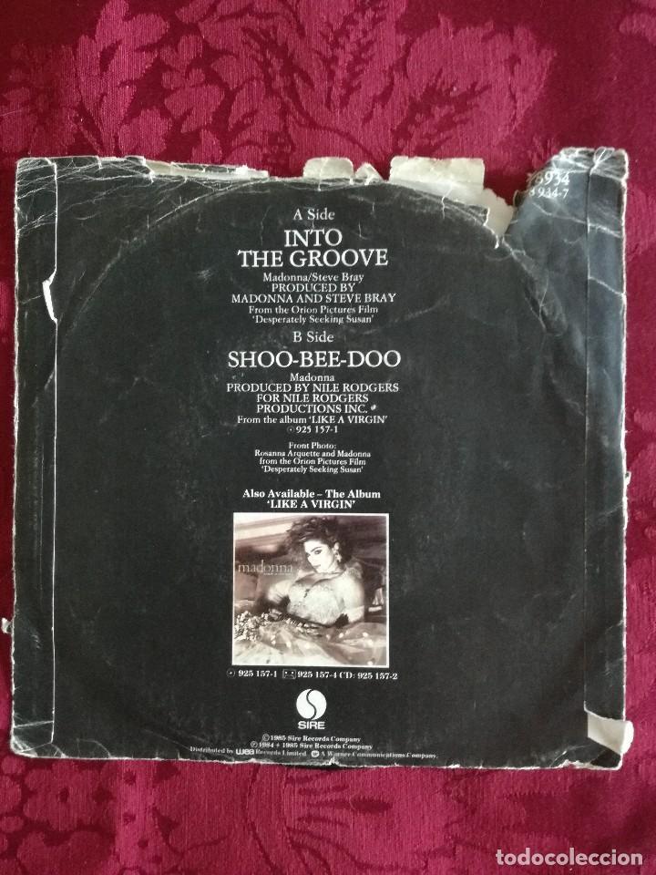 Discos de vinilo: SINGLE MADONNA VINILO INTO THE GROOVE - Foto 2 - 98047403