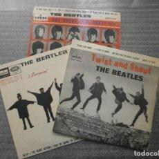 Discos de vinilo: ¡¡OPORTUNIDAD!! LOTE 3 DISCOS THE BEATLES VINILOS 7'' EP. Lote 98051423