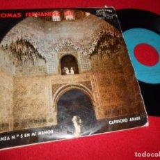 Discos de vinilo: TOMAS FERNANDEZ GIL GUITARRA DANZA N 5 MI MENOR/CAPRICHO ARABE EP 1963 CUBALEGRE TARREGA GRANADOS. Lote 98065263