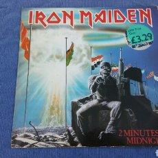 Discos de vinilo: IRON MAIDEN-2 MINUTES TO MIDNIGHT EP EDICION UK. Lote 98765328
