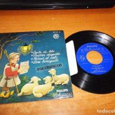 Discos de vinilo: COROS DE LAS ESCUELAS DE AVEMARIANAS CANTA RIE BEBE VILLANCICOS EP VINILO 1958 4 TEMAS CON PESTAÑA. Lote 98070951