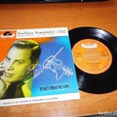 Discos de vinilo: HELMUT ZACHARIAS Y SUS VIOLINES MAGICOS VIOLINES ESPAÑOLES EP VINILO 1958 VALENCIA LA VIOLETERA RARO. Lote 98071307