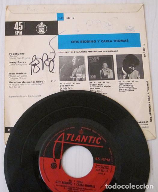 Discos de vinilo: OTIS REDDING & CARLA THOMAS - VAGABUNDO + 3 TEMAS ATLANTIC - 1967 - Foto 2 - 98071891