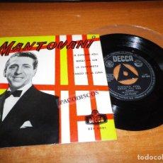 Discos de vinilo: MANTOVANI EL DANUBIO AZUL EP VINILO DEL AÑO 1962 ESPAÑA CON TRIANGULO CONTIENE 4 TEMAS DECCA RARO. Lote 98072471
