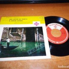 Discos de vinilo: ORQUESTA DE LA OPERA DE BERLIN UNA NOCHE EN VENECIA JOHANN STRAUSS EP VINILO 1961 ARTUR ROTHER RARO. Lote 98073931