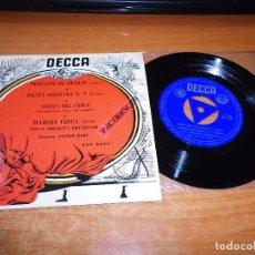 Discos de vinilo: NUEVA ORQUESTA PROMENADE BERCEUSE DE JOCELIN EP VINILO TRIANGULO VICTOR OLOF DANZA HUNGARA Nº5 DECCA. Lote 98074351