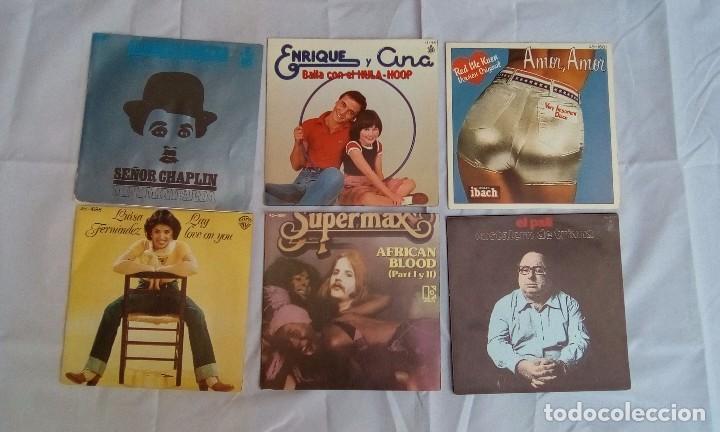 LOTE DE 6 SINGLES VARIADOS (Música - Discos - Singles Vinilo - Disco y Dance)
