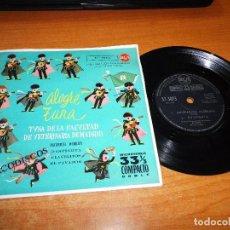 Discos de vinilo: TUNA DE LA FACULTAD DE VETERINARIA DE MADRID ALEGRE TUNA EP VINILO PORTADA ABIERTA 1961 CLAVELITOS. Lote 98075375
