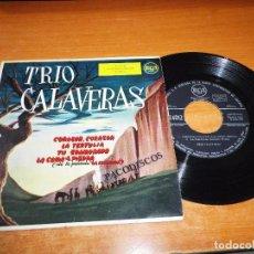 Discos de vinilo: TRIO CALAVERAS CORAZON BANDA SONORA LA ESCONDIDA EP VINILO 1958 ESPAÑA 4 TEMAS RCA MUY RARO. Lote 98077367