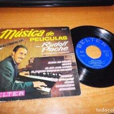 Discos de vinilo: RUDOLF PACHE Y SU ORGANO HAMMOND BAHIA DE PALMA MUSICA DE PELICULAS EP VINILO 1963 BELTER. Lote 98077671