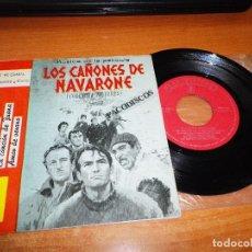 Discos de vinilo: JOE REISMAN SU ORQUESTA Y COROS LOS CAÑONES DE NAVARONE BANDA SONORA EP VINILO 1961 ESPAÑA. Lote 98078623