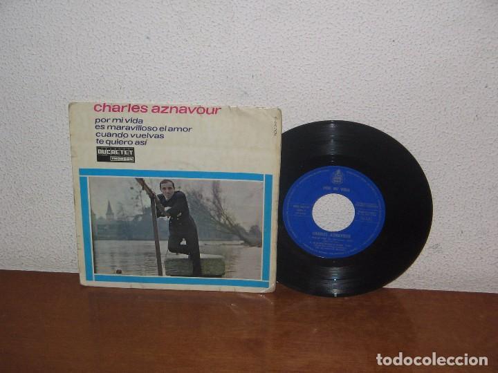 CHARLES AZNAVOUR 7´´ MEGA RARE VINTAGE EXTENDED PLAY SPANISH TITLES 1965 (Música - Discos de Vinilo - EPs - Canción Francesa e Italiana)