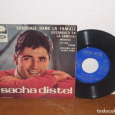 Discos de vinilo: SACHA DISTEL 7´´ MEGA RARE VINTAGE SPANISH TITLES 1965. Lote 98083819