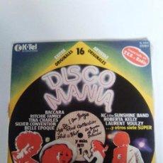 Discos de vinilo: DISCOMANIA ( 1978 K-TEL ESPAÑA ) SILVER CONVENTION BACCARA TINA CHARLES KC SUNSHINE BAND HOT BLOOD. Lote 98090327