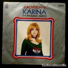 Discos de vinilo: KARINA (SOLO PORTADA / FUNDA SIN DISCO) EN UN MUNDO NUEVO - EUROVISION 71 - (TAMBIEN SE REGALA). Lote 98092287