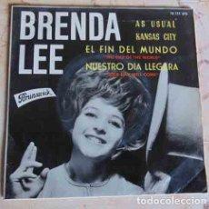 Discos de vinilo: BRENDA LEE - AS USUAL + 3 - EP 1964. Lote 98092859