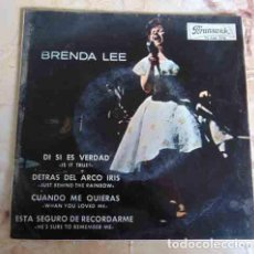 Discos de vinilo: BRENDA LEE – IS IT TRUE? + 3 - EP 1964. Lote 98092887