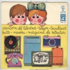 Discos de vinilo: JM. ESPINÀS. F. BURRULL. CANÇONS AMB ENDEVINALLA. DISC CAVALL FORT 9. CONCÈNTRIC 1969. Lote 98101599