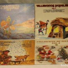 Discos de vinilo: VILLANCICOS DE SIEMPRE,VOL I II III Y IV,DIAL RECORDS,1976-1984. Lote 98103974