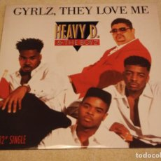 Discos de vinilo: HEAVY D. & THE BOYZ ( GYRLZ, THEY LOVE ME 4 VERSIONES ) USA-1990 MAXI45 MCA RECORDS. Lote 98129399