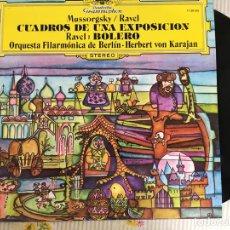 Discos de vinilo: LP MUSSORGSKY/RAVEL-CUADROS DE UN AEXPOSICION-RAVEL. Lote 98159775