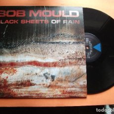 Discos de vinilo: BOB MOULD BLACK SHEETS OF RAIN LP UK 1990 PDELUXE. Lote 98160807