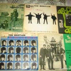 Discos de vinilo: BEATLES - LOTE DE 19 SINGLES - UNO DE ELLOS ES DOBLE - VER FOTOS . Lote 98165479
