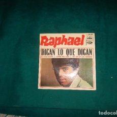 Discos de vinilo: RAPHAEL, DIGAN LO QUE DIGAN. EMI PATHE MARCONI FRANCIA. Lote 98167451