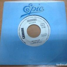 Discos de vinilo: SINGLE PROMOCIONAL SAXON / WARRIOR CARA B SIN TEMA CARRERE EPIC ESPAÑA 1983. Lote 98190259