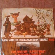 Discos de vinilo: NADAL AMB ELS ESCOLANS DE MONTSERRAT. Lote 98200044