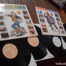 Discos de vinilo: EL GOLFO + EL GOLFO 2 MADE IN SPAIN 4 DISCOS LP SINIESTRO TOTAL/DNI/ MOSQUITOS/ LIVINGSTONE/. Lote 98201399
