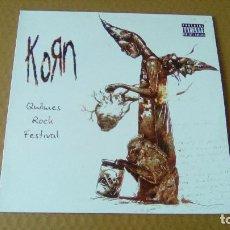 Discos de vinilo: KORN - QUILMES ROCK FESTIVAL (LP 2008, KORN PARTNERSHIP SLLP 9001-1) NUEVO. Lote 98204631