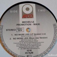 Discos de vinilo: MICHEL'LE - NO MORE LIES - 1990. Lote 98213891