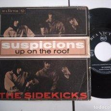 Discos de vinilo: SINGLE-THE SIDEKICKS-SUSPICIONS-1966-SPAIN-. Lote 98216719