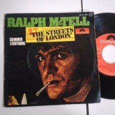 Discos de vinilo: SINGLE-RALPH MCTELL-THE STREETS OF LONDON-1975-SPAIN-. Lote 98218851