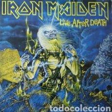 Discos de vinilo: IRON MAIDEN - LIVE AFTER DEATH - DOBLE - EMI - 1985 - ENCARTES Y FOLLETO A COLOR CON FOTOS DEL GRUPO. Lote 98208683