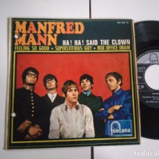 Discos de vinilo: EP-MANFRED MANN-HA!HA! SAID THE CLOW-1967-SPAIN-. Lote 98222343