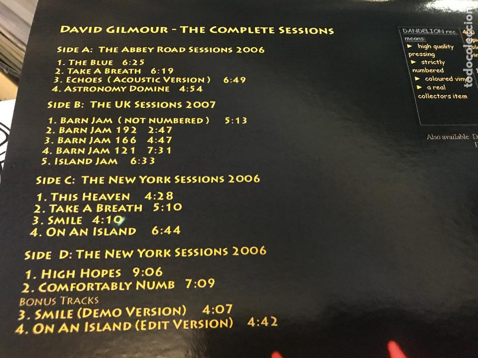 Discos de vinilo: David gilmour de pink floyd The complete sessions 2lp vinilo color DAN003 Ed limitada - Foto 7 - 98223439