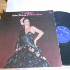 Discos de vinilo: LP DE ISABEL PANTOJA-VIVA TRIANA-PORT.ABIERTA. Lote 98223575