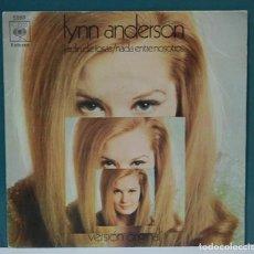 Discos de vinilo: LYNN ANDERSON. JARDÍN DE ROSAS / NADA ENTRE NOSOTROS. CBS RECORDS 1970. SINGLE. Lote 98224975