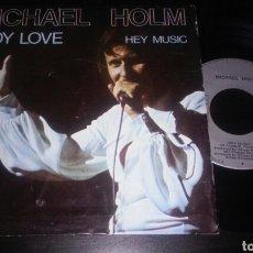 Discos de vinilo: MICHAEL HOLM SINGLE 7' LADY LOVE + 1 1976. Lote 98230252