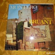 Discos de vinilo: GERMAINE MONTERO CHANTE ARISTIDE BRUANT. VEGA 1969. EDICION FRANCESA. IMPECABLE. Lote 98231047